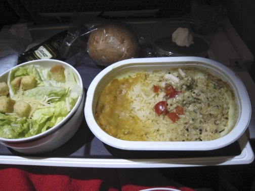 Repas sur Virgin. (Photo Ariane Krol, La Presse)