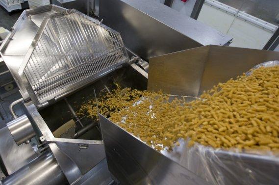 Des centaines de kilos de pâtes. (Photo Ivanoh Demers, La Presse)