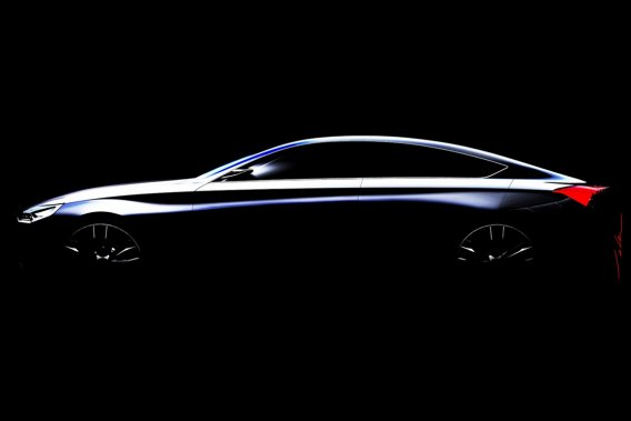 Le concept HCD-14, de Hyundai, qui sera dévoilé au prochain Salon de Detroit.