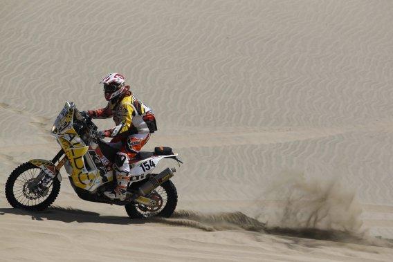 Patrick Beaulé est 55e au classement moto après la troisième étape du Dakar 2013.