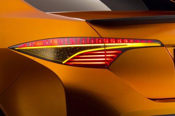 L'une des quelques images en gros plan du concept Toyota Furia, qui sera dévoilé à Detroit.