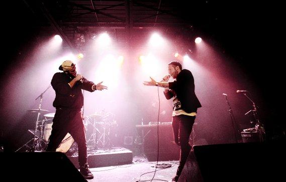 Le groupe Loud Lary Ajust en concert à Montréal. (Marco Campanozzi, La Presse)