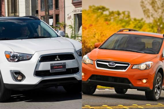 Le RVR de Mitsubishi et le XV Crosstrek de Subaru.