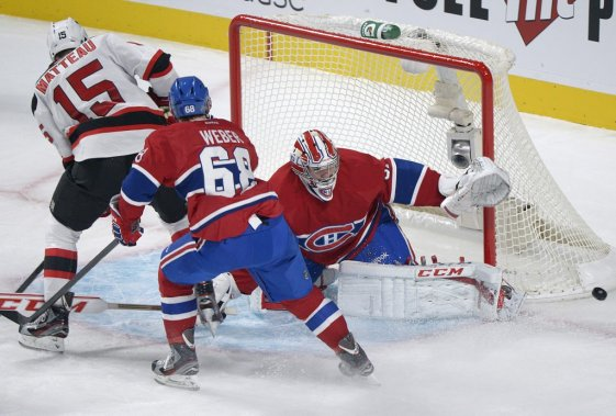 Carey Price brise les intentions de Matteau (Photo Graham Hughes, PC)