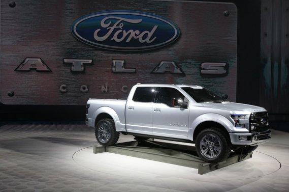 Le Ford Atlas concept préfigure le prochain F-150, prévu en 2015.