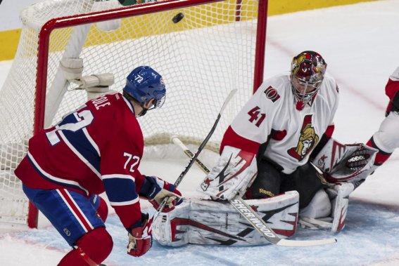 Erik Cole marque le deuxième but du Canadien. (PHOTO EDOUARD PLANTE-FRÉCHETTE, LA PRESSE)