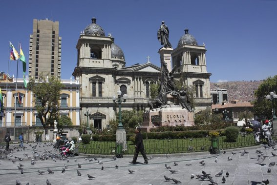 La place Murillo, où est situé le siège du pouvoir politique. (Photo Sylvain Sarrazin, La Presse.)