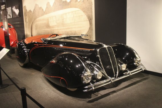Une autre des perles rares du musée Petersen, la Delahaye Type 135 M de 1939. (Photo Jacques Duval, collaboration spéciale)