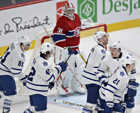 Phil Kessel marque le 4e but des Leafs. (Photo Bernard Brault, La Presse)