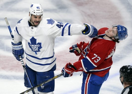 Mark Fraser et Brendan Gallagher (Photo Bernard Brault, La Presse)
