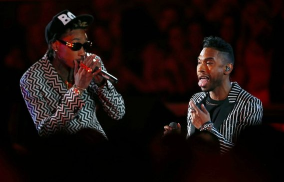 Wiz Khalifa et Miguel (Photo Reuters)