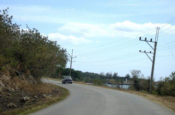 Sur la route de Santa Clara. (Photo Simon Chabot, La Presse)