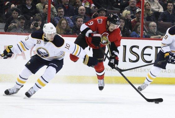 Les Sénateurs l'ont emporté 2-0 face aux Sabres de Buffalo mardi soir à la PBS. (Patrick Woodbury, LeDroit)