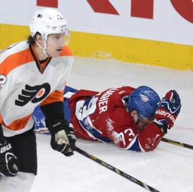 Brendan Gallagher a été blessé en troisième période. (Photo Bernard Brault, La Presse)
