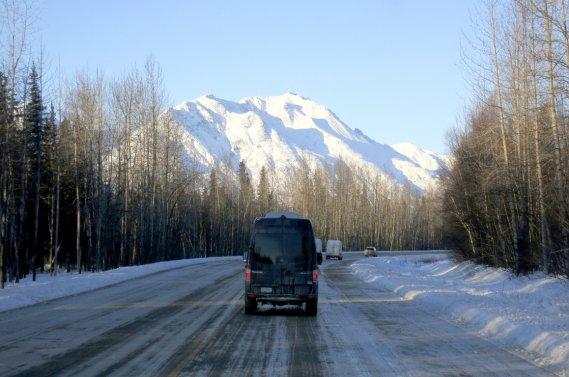 Le mont McKinley, plus haut sommet d'Amérique du Nord.
