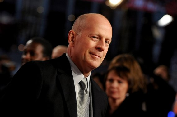 Bruce Willis, à l'occasion de la première du film <em>A Good Day to Die Hard</em>, à Berlin.