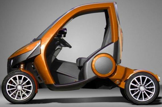 La Casple-Podadera, petite voiture électrique pliable.