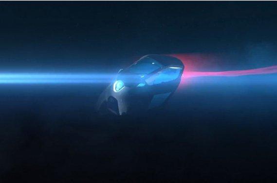 Le concept Toyota i-Road, qui sera dévoilé au Salon de l'auto de Genève.