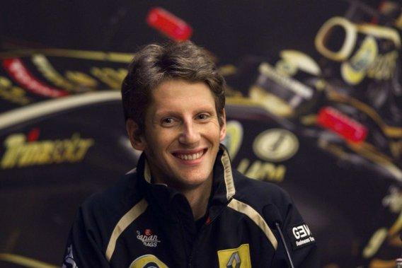 Le pilote français de l'écurie Lotus Renault, Romain Grosjean.