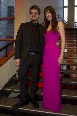 Podz, qui est en nomination pour le Jutra de la meilleure réalisation pour L'Affaire Dumont, et Gina Desjardins. (PHOTO OLIVIER JEAN, LA PRESSE)