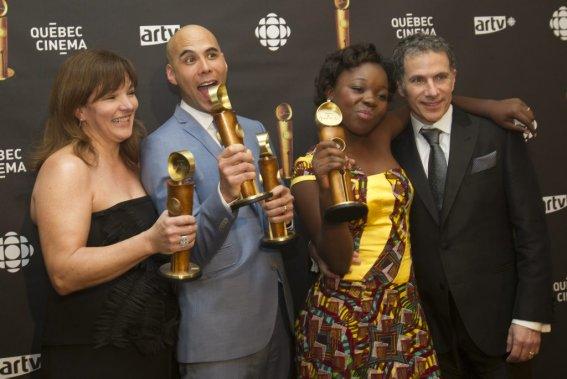 Le film Rebelle a terminé la soirée avec huit trophées Jutra. (PHOTO OLIVIER JEAN, LA PRESSE)