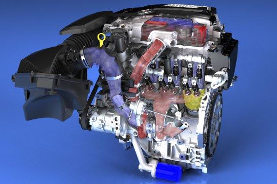 Le quatre-cylindres turbo de 2 litres produira 272 chevaux et GM promet aux Américains 30 milles au gallon (7,84 L/100 km, au Canada).