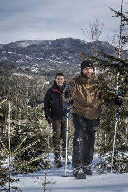 Le ski-raquette, nouvelle activité-vedette à la Forêt Montmorency. (Photo Olivier Pontbriand, La Presse)