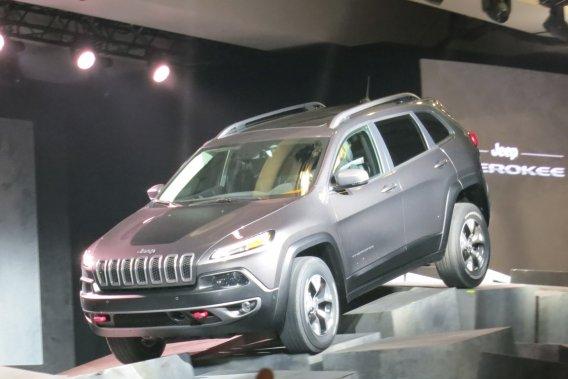 Tel que présenté au Salon de New York, le Jeep Cherokee a vite fait l'unanimité.