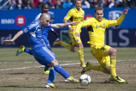 Marco Di Vaio a marqué l'unique but de l'Impact, dimanche. (PHOTO ROBERT SKINNER, LA PRESSE)