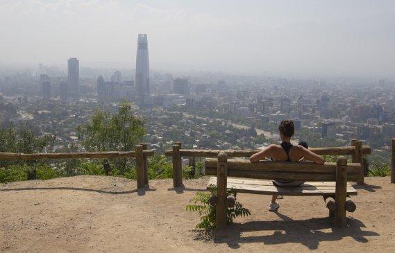 Soleil de plomb sur Santiago. (Photo François Roy, La Presse)