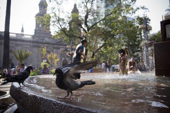La Plaza de Armas, au centre-ville de Santiago. (Photo François Roy, La Presse)