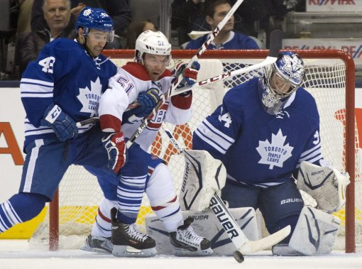 Nazem Kadri, David Desharnais et James Reimer (Photo Frank Gunn, La Presse Canadienne)