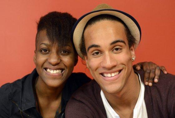 Les deux candidats de La Voix Mathilda et Stevens Simeon sont passés par les centres jeunesse. Ils étaient là pour inspirer les jeunes et leur parler de leur cheminement: «La chanson, c'est ce qui m'a sauvé», dit Stevens. (Photo: Bernard Brault, La Presse)