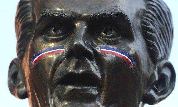 Même Maurice Richard s'était maquillé pour l'occasion. (Photo Bernard Brault, La Presse)