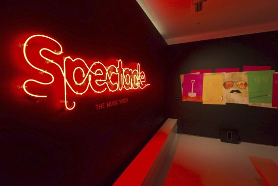 L'entrée de l'exposition Spectacle: The Music Video. (PHOTO FOURNIE PAR LE MOVING IMAGE MUSEUM DE NEW YORK)