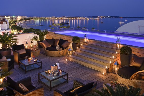 La terrasse du Majestic Barrière à Cannes (Photo RelaxNews)