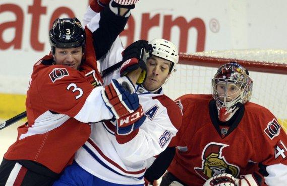 L'animosité entre le Canadien et les Sénateurs d'Ottawa s'est fait sentir à plusieurs reprises mardi soir. (Photo Bernard Brault, La Presse)