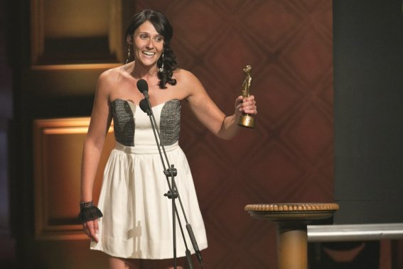 Korine Côté a remporté le prix du Numéro d'humour de l'année. (Hugo-Sébastien Aubert, La Presse)