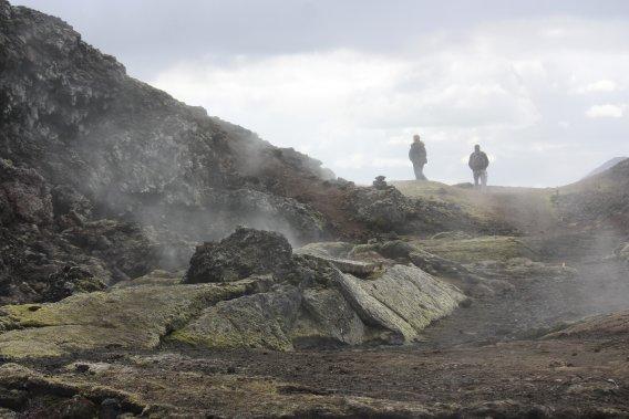 Le paysage désolé du Krafla. (PHOTO SYLVAIN SARRAZIN, LA PRESSE)