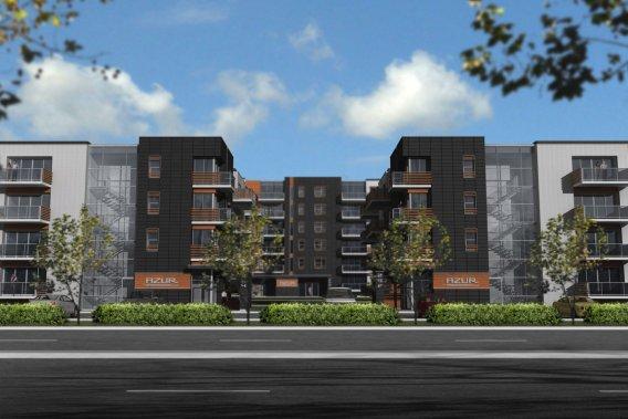 Azur Condominiums Sainte-Julie comprendra 80 condos haut de gamme répartis dans trois immeubles. (Illustration fournie par le Groupe Leclerc Architecture+Design.)