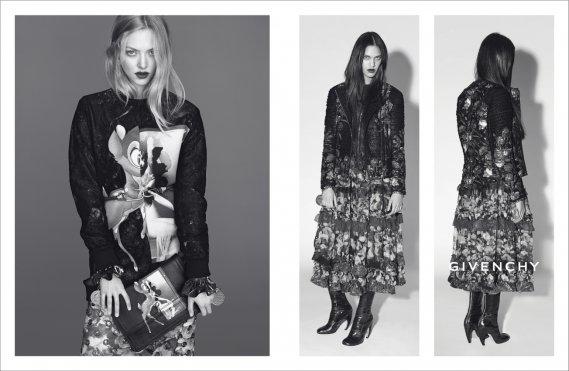 Amanda Seyfried et Dalianah Arekion pour Givenchy automne 2013 (PHOTO FOURNIE PAR Givenchy - Mert & Marcus)