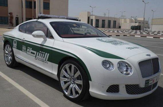 La police de Dubaï a publié cette photo de sa Bentley de patrouille. (Photo fournie par la police de Dubaï)