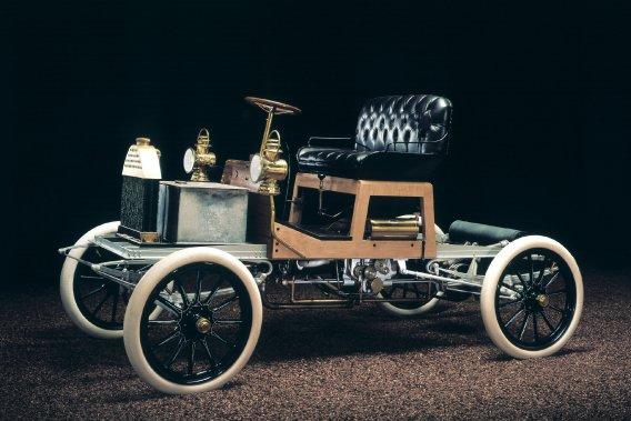 Le modèle B, la première Buick de l'histoire qui était construite à Flint au Michigan.