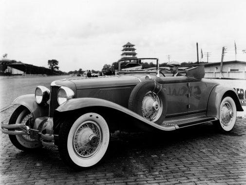 La Cord L-29, première auto américaine à traction construite tout près d'Indianapolis a servi de Pace Car en 1930. (Photo courtoisie)