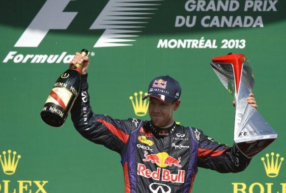 Sebastian Vettel a remporté sa première victoire en carrière au Grand Prix du Canada. (Bernard Brault, La Presse)