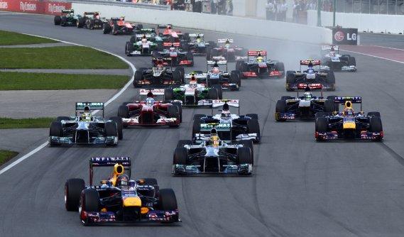 Vettel a dominé la course de bout en bout après avoir pris le départ de la position de tête. (Bernard Brault, La Presse)