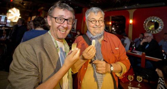 Le metteur en scène René Richard Cyr et l'auteur Michel Tremblay. (Photo: Marco Campanozzi, La Presse)