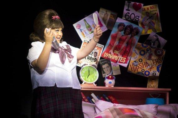 Dans Hairspray, Vanessa Duchel incarne Tracy, adolescente qui rêve d'être choisie pour danser dans une populaire émission de télé. (Photo: André Pichette, La Presse)