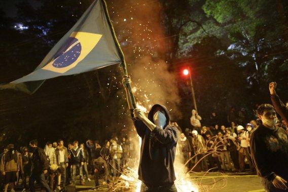 Des manifestations sans précédent ont eu lieu ces derniers jours au Brésil. (Photo Nelson Antoine, AFP)