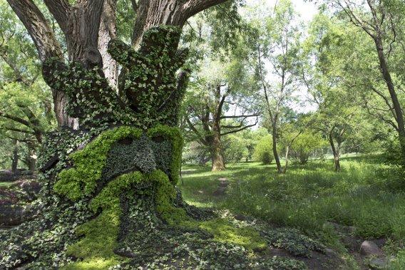 Des quatre expositions internationales de mosaïcultures tenues jusqu'à maintenant, il s'agit de la première à avoir lieu dans un jardin botanique. (Photo Robert Skinner, La Presse)